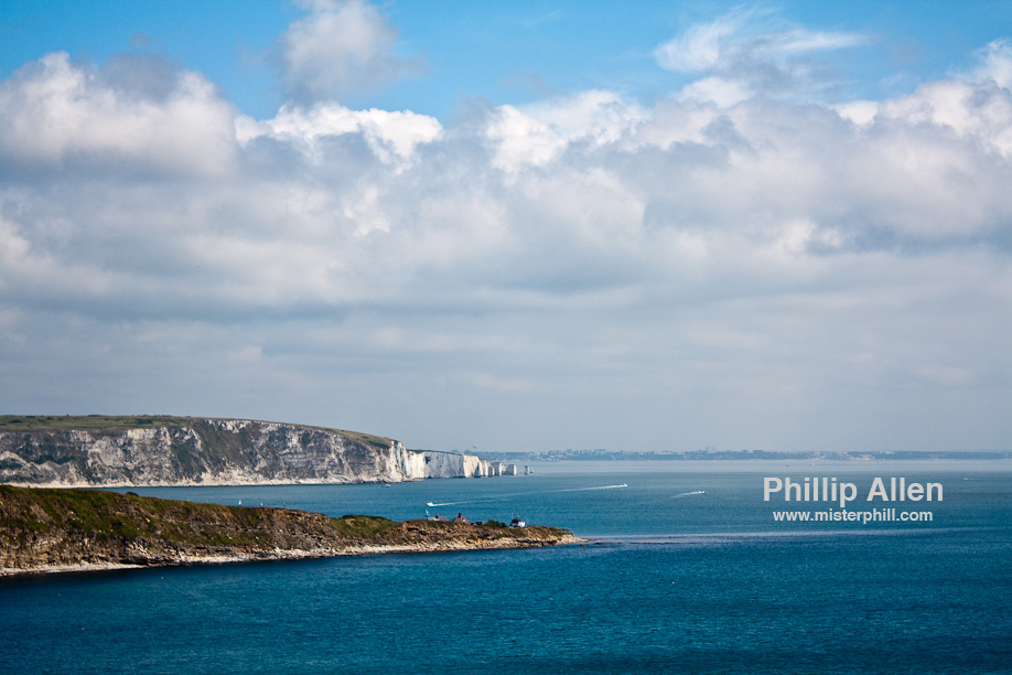 Looking back towards Swanage, Studland, Old Harry