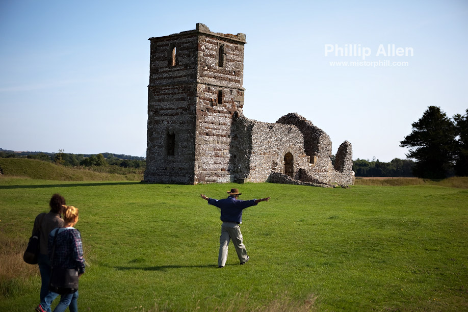 Gerry brings his passengers in for a safe landing at Knowlton Church. To say the man is energetic would be an understatement :~) His fantastic sense of humour added greatly to an already excellently packaged tour.