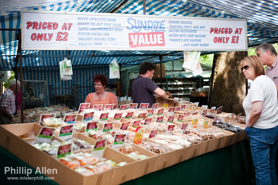 Salisbury Market runs on Tuesdays and Saturdays. Whilst not quite Martin Parr, I